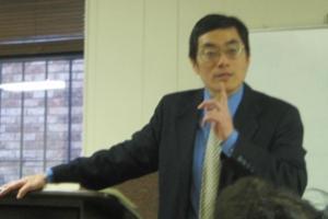 南塔光浸信會主任顧奇偉牧師以「兩個世界的衝突」為題分享。(圖:基督日報/全威) <br/>