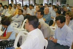 去年7月31日,77名來自柬埔寨宣教機構、教會宗派以及從事傳福音事工的代表出蓆參與MK 2021的推介。(圖: Evengelical Fellowship of Cambodia) <br/>