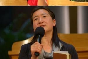 從上至下:孫海英、呂麗萍伉儷分享見證;小敏姊妹短講,基督徒歌手陳金鑫與鍾舒漫獻唱。(圖:遠牧師博客) <br/>