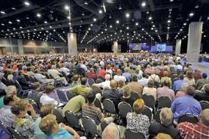 美南浸信會某一年的年度大會場景。(圖:網絡) <br/>