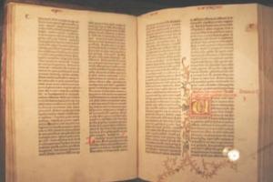 古騰堡聖經。(圖:網絡截屏) <br/>