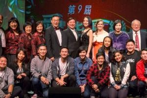 第九屆南加華人聖誕晚會主要人員合影。(圖:大洛杉磯教會網絡) <br/>
