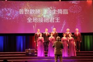 教會弟兄姊妹歌舞表演。(圖:大洛杉磯教會網絡) <br/>