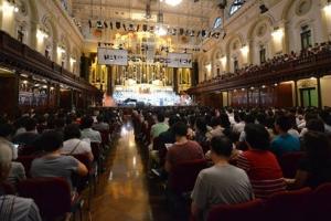 2014「天歌」悉尼音樂盛會吸引當地僑胞參與,幾乎座無虛席。(圖:遠志明牧師臉書) <br/>