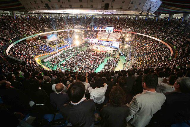韓國超級大教會——愛的社區教會盛況。
