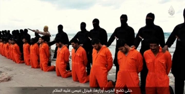 今年2月,在恐怖組織ISIS發布的一個視頻中,21名被俘虜的埃及基督徒慘遭屠殺。