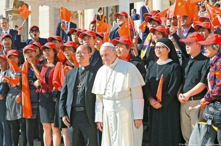 教宗方濟接見中國主教