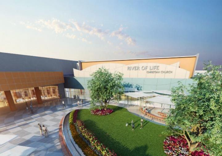 加州矽谷生命河靈糧堂Shekinah Glory聖殿擴建計劃效果圖。