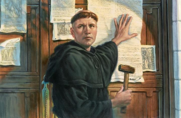 1517年,馬丁·路德在教堂門口張貼《95 條論綱》,標誌著宗教改革運動的開始。 (圖:來自網絡)