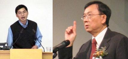 邢福增院長(左) 懷念張慕皚牧師政治壓力下仍尊重學術自由。