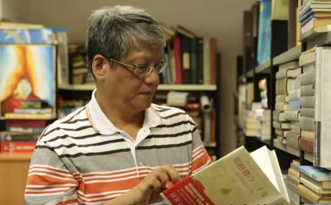 陳培德牧師分析文字事工的挑戰與傳承。(圖:youtube 擷圖)