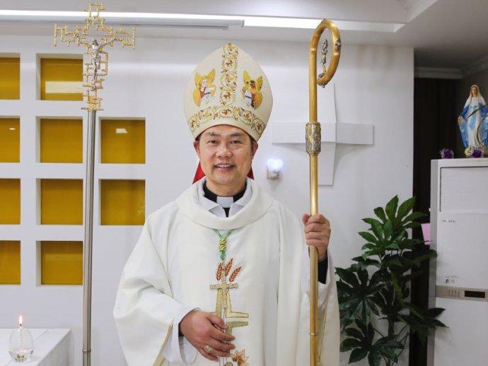 華東溫州教區邵祝敏正權主教。(圖:網絡圖片)