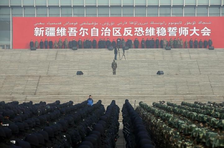 中國以「反恐」為由羈押維吾爾族基督徒。(圖:網絡圖片)