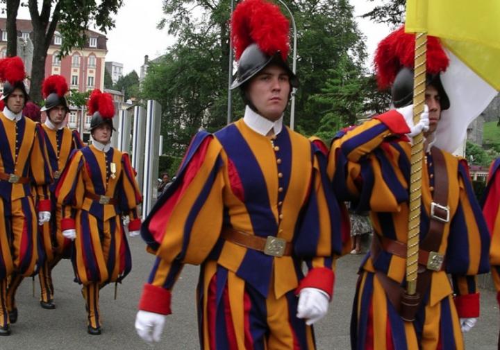 梵蒂岡瑞士衛隊是全世界最小衛隊共115名士兵。(圖:網絡圖片)