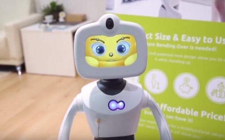 Robelf智能機械人。(圖:「麗暘科技展2017」youtube擷圖)
