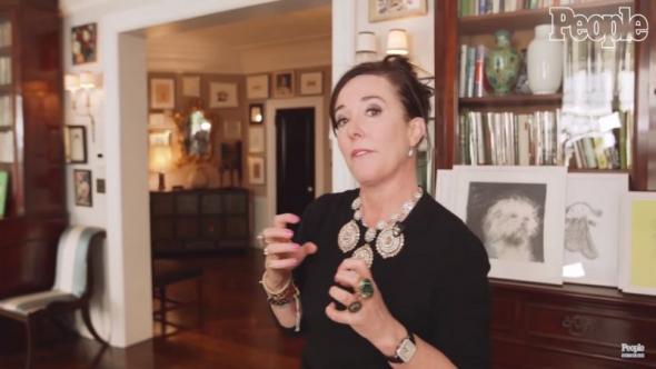 時尚設計師凱特.絲蓓(Kate Spade)在紐約的寓所,刊登於2016年9月13日。(YouTube截圖/People TV)