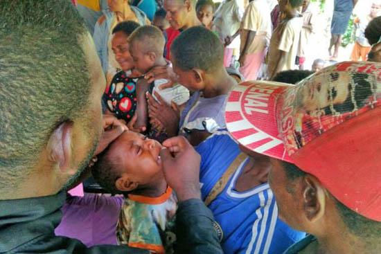 麻疹疫情蔓延印尼教會施援。(圖:印尼東盟網)