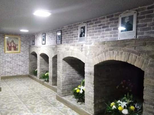 三盛公天主堂地下墓穴。(圖:巴盟教區)