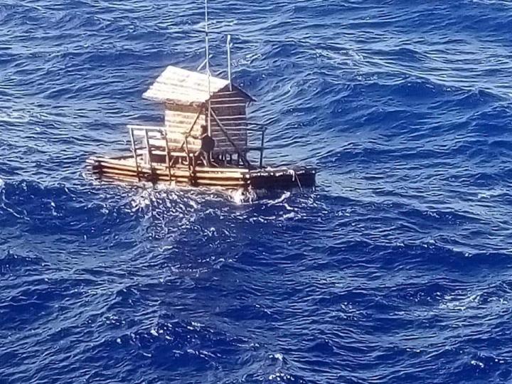 阿爾迪被迫在太平洋漂流49天 (圖:印尼駐日本大阪領事館臉書)