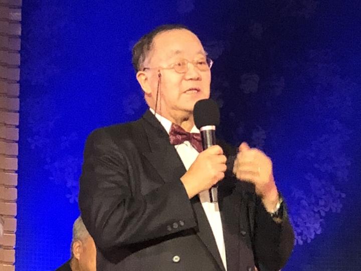 林治平總幹事在宇宙光45週年感恩會上發言 (圖:來自網絡)