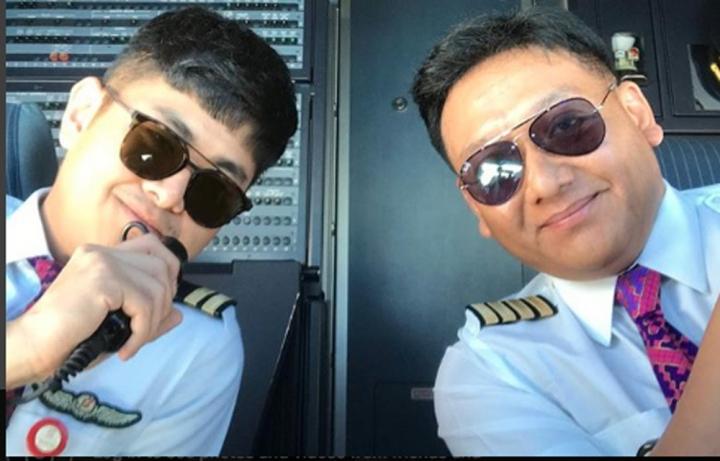 機長馬費拉和副駕駛 (圖:Icoze Mafella Instagram)