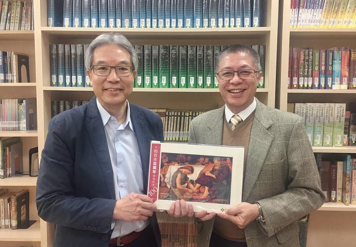 《和合本百周年,香港聖經公會拜訪各宗派領袖。(圖:香港聖經公會網)