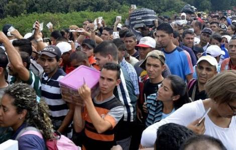 委內瑞拉大批難民湧入哥倫比亞。(圖:Agenzia Fides)