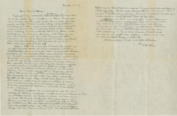 愛因斯坦《上帝之信》 (圖:佳士得拍賣行官網)
