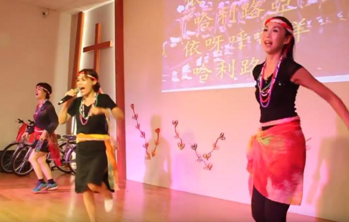 雲林斗六福氣教會舉辦2018短宣舞蹈。(斗六福氣教會視頻擷圖)