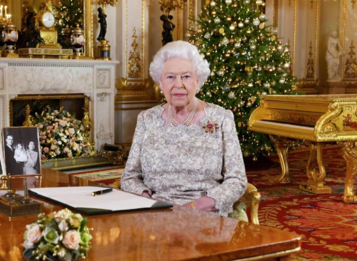 英國女王伊麗莎白二世發表聖誕致辭 (圖:路透社)