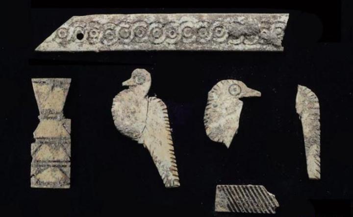 迦南人古墓內的陳列品 (圖:國家地理中文網)