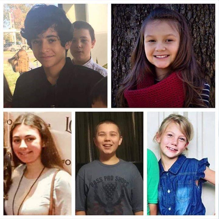 在車禍中喪生的5個孩子 (圖:美聯社)