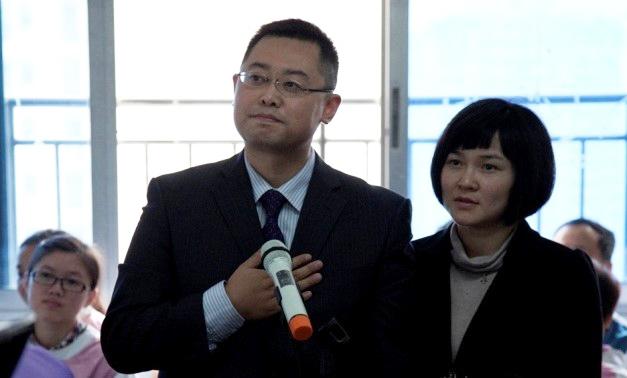 王怡牧師和蔣蓉師母 (圖:王怡牧師微博)