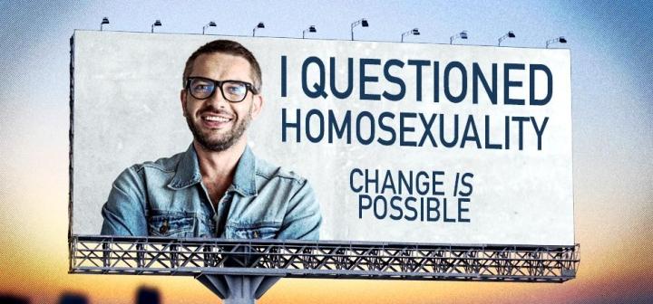 同性戀矯正治療宣傳牌(圖:來自網絡)