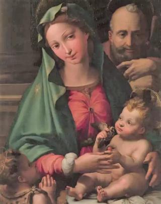 19世紀英國畫家米萊(John Everett Millais)《聖子耶穌與父母》。(圖:網絡圖片)