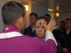 US_Navy_080206-N-7869M-057_Electronics_Technician_3rd_Class_Leila_Tardieu_receives_the_sacramental_ashes_during_an_Ash_Wednesday_celebration.jpg