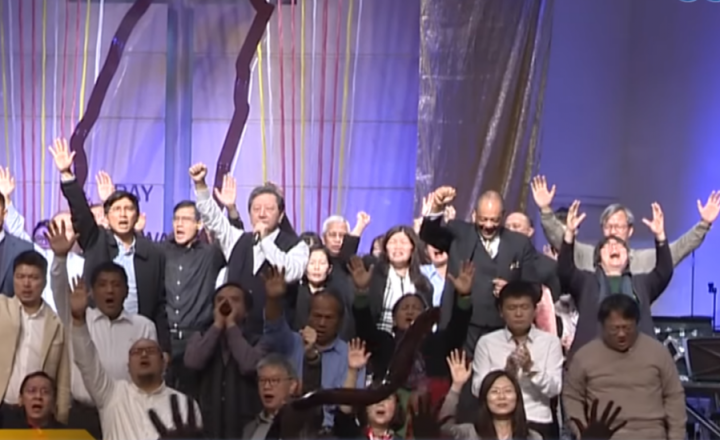 全台連線合一啟動為國禁食禱告40天3月1日啟動。(圖:GOODTV視頻擷圖)_