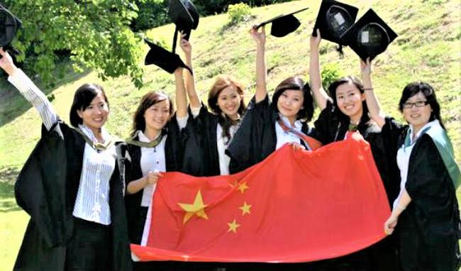 中國海外留學生去年突破60萬回歸者近50萬人。(圖:網絡圖片)