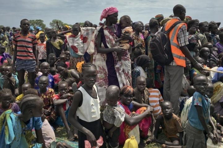 聯合國在南蘇丹的瓊萊州(Jonglei state)的難民。(圖:網絡圖片)