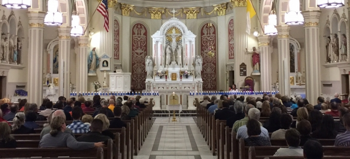 聖塞巴斯蒂安教堂周日重開舉行彌撒,圖為2015年彌撒。(圖:聖塞巴斯蒂安教堂網站)