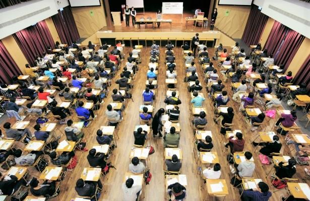 中學文憑考試會場。(圖:網絡圖片)