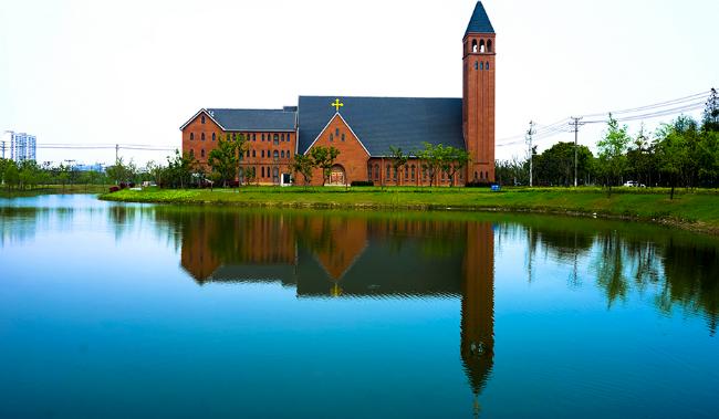 江蘇省華莊天主教堂。(圖:網絡圖片)