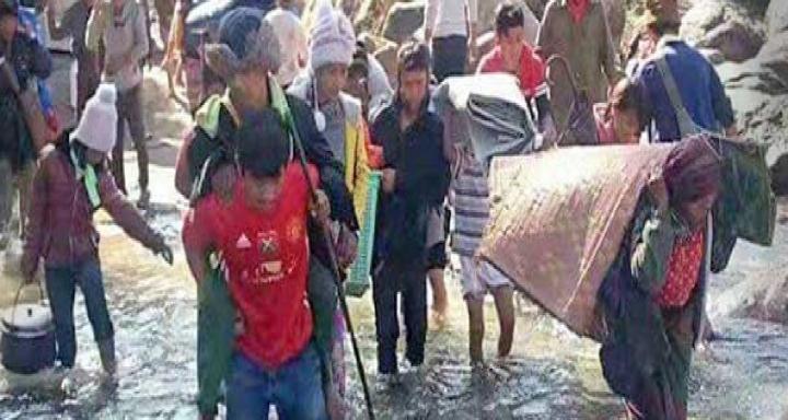 緬甸基督徒被族民逼迫離開家園。(圖:網絡圖片)