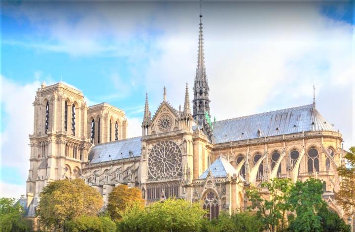 巴黎聖母院舊貌。(圖:google map)