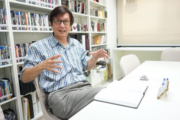 梁永泰侃侃而談香港局勢與教會的未來。(圖:基督日報)