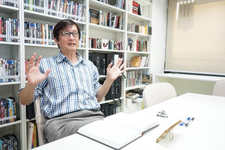 梁永泰博士闊談教會媒體多元創作。(圖:基督日報)