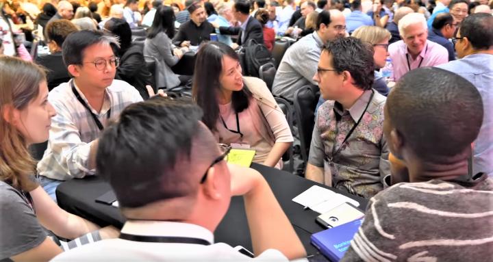 「全球職場論壇」小組研討。(圖:GWF2019視頻擷圖)