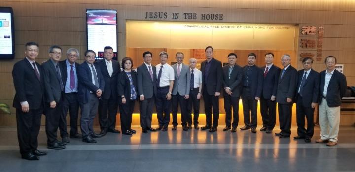 三宗派代表一行15人與特首林鄭月娥會面。(圖:香港浸聯會網)