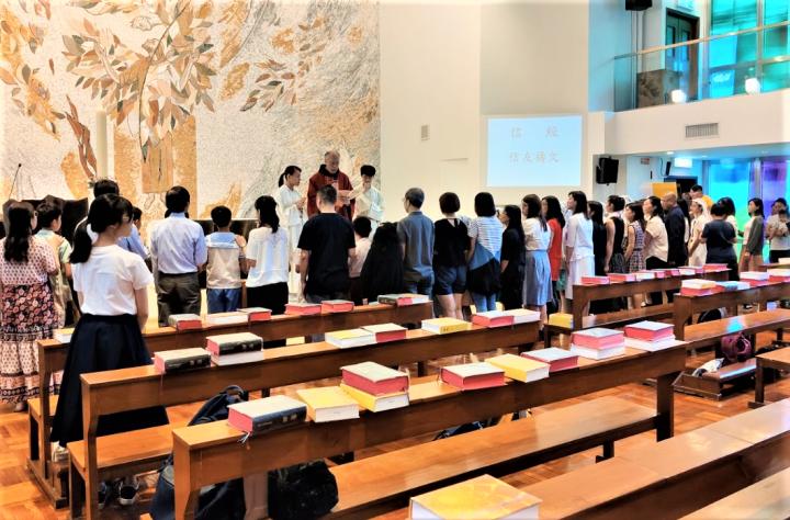 黃大仙聖文德堂舉行信友禱文。(圖:google map)