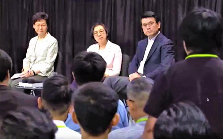 首場「社區對話」約150人出席。(圖:視頻擷圖)